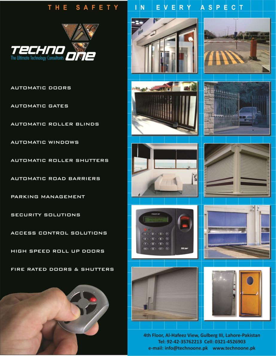 Techno One Automatic Doors Brochure